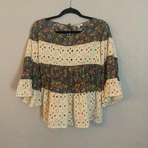 Umgee Boho Shirt Top  Size M